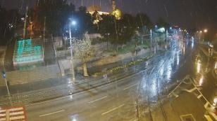 Konya'ya beklenen kar yağışı başladı