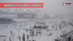 Konya'ya Kar Müjdesi