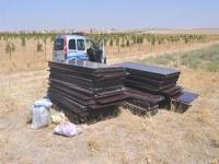 Cihanbeyli'de okul inşaatından hırsızlık