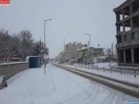 Yeniceoba'da Kar Yağışı