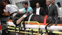 Tavşançalı'da inşaattan düşen işçi yaralandı
