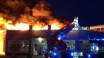 İşte 63 milyon kronluk yangının görüntüleri