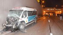 Konya'da otomobil ile yolcu minibüsü çarpıştı: 3 ölü, 1 yaralı
