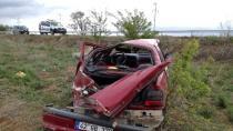 Kulu'da Otomobil Takla Attı: İki Yaralı