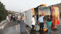 Konya-Diyarbakır seferini yapan otobüs devrildi : 27 Yaralı