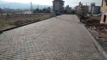 Cihanbeyli'de kilitli parke taşı döşeme çalışmaları sürüyor