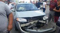 Yeniceoba'da Trafik Kazası : 1 Yaralı ( Foto Galeri)