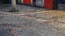 Kulu'da Dolu ve Sağanak Yağış
