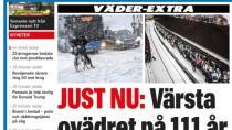 Stockholm'e son 111 yılın en yoğun karı yağdı