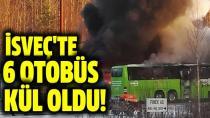 İsveç'te 6 otobüs kül oldu