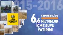 Cihanbeyli'ye 6.6 Milyonluk İçme Suyu Yatırımı Yapıldı