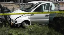Kulu'da polisten kaçarken kaza yaptılar