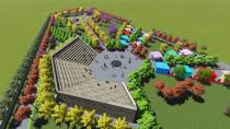 Cihanbeyli'de Ayşe Türkmenoğlu Hanımeli  Anıt Parkı inşaatı tüm hızıyla devam ediyor