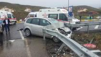 Kulu'da İki otomobil çarpıştı: 1 ölü, 3 yaralı