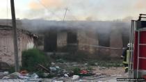 Yeniceoba'da Yangın