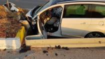 Kulu'da otomobil refüje çarptı: 1 yaralı