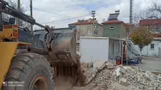 Yeniceoba Jandarma Karakolunda bahçe duvarı yenilenmesi