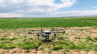 Yeniceoba'da Drone destekli ilaçlanma yapıldı